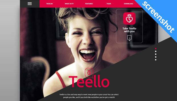 Teello dating app screenshot