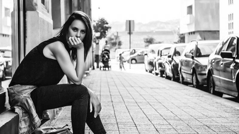 vrouw straat