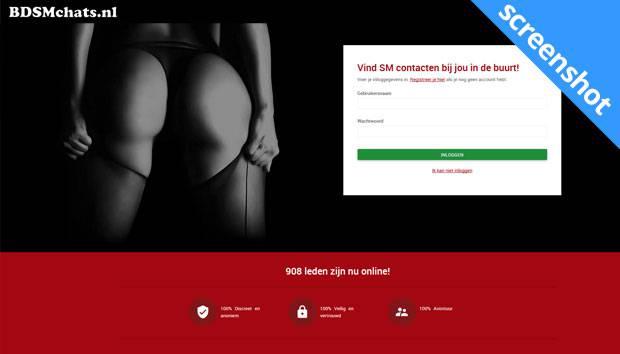 Bdsmchats.nl screenshot