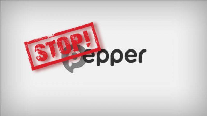 Pepper opzeggen
