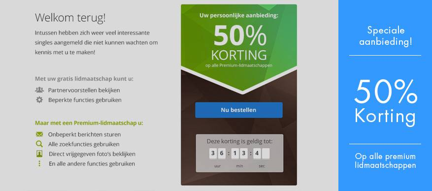 50 procent korting parship