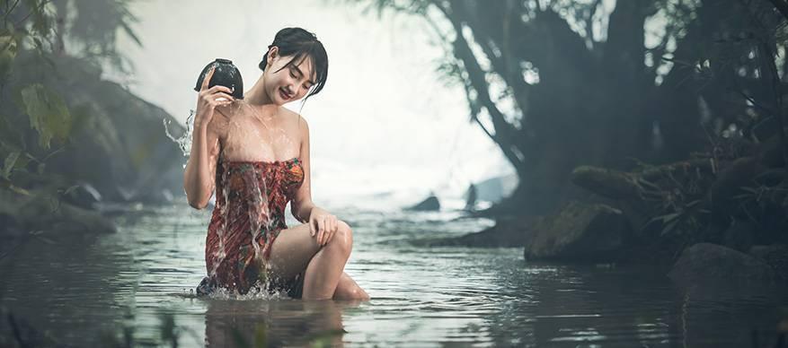 aziatische vrouw