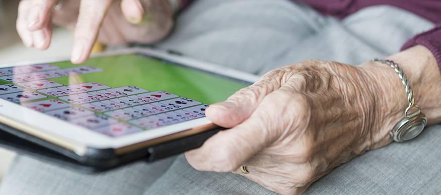 bejaarde tablet