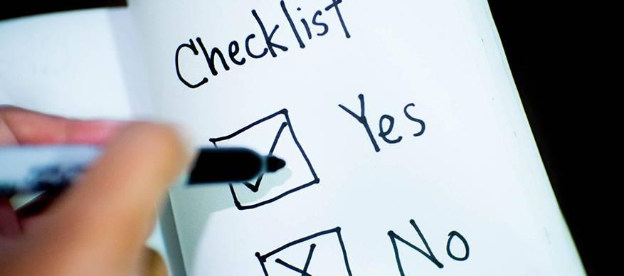eisen checklist