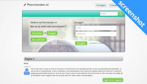 Penvrienden.nl screenshot