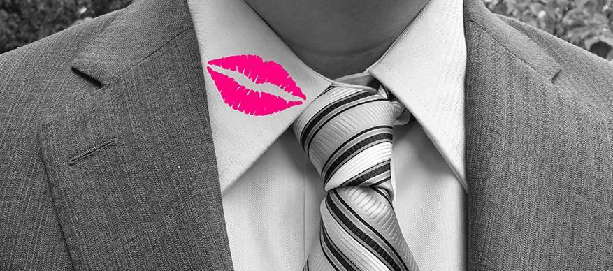 vreemdgaan lippenstift kraag